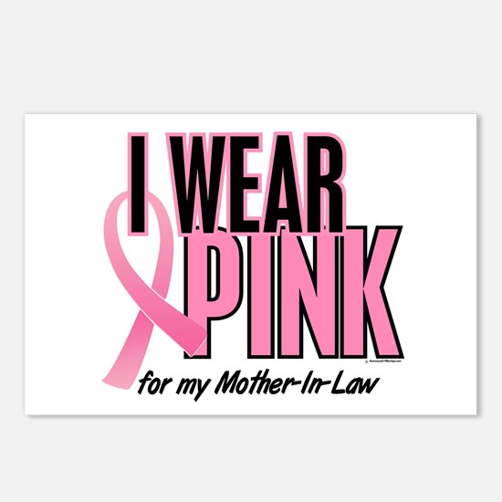 I Wear Pink For My Mother-In-Law 10 Postcards (Pac