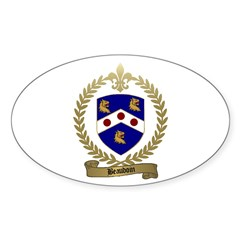 BEAUDOIN Family Crest Oval Sticker