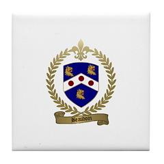 BEAUDOIN Family Crest Tile Coaster