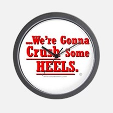Crush Some Heels (Red) Wall Clock