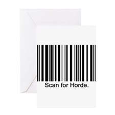 Scan for Horde Greeting Card