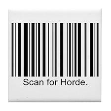 Scan for Horde Tile Coaster