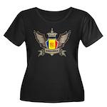 Andorra Emblem Women's Plus Size Scoop Neck Dark T