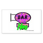 Bar Hag Rectangle Sticker