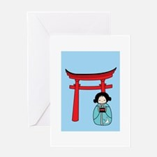 Kokeshi Greeting Card