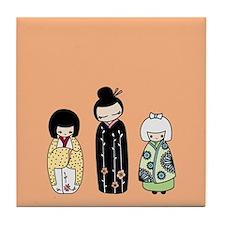 Kokeshi Tile Coaster