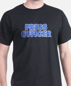 Retro Press officer (Blue) T-Shirt