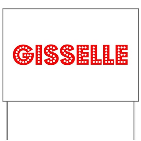 Retro Gisselle (Red) Yard Sign