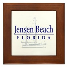 Jensen Beach Sailboat - Framed Tile