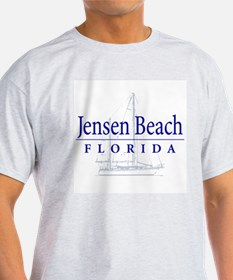 Jensen Beach Sailboat - T-Shirt