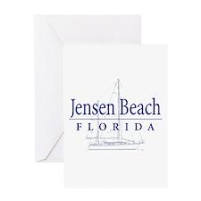 Jensen Beach Sailboat - Greeting Card