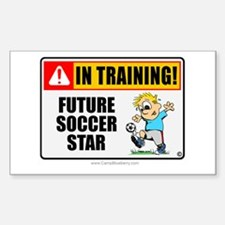 Soccer Star in Training Rectangle Decal