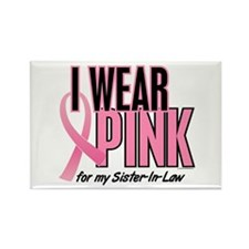 I Wear Pink For My Sister-In-Law 10 Rectangle Magn