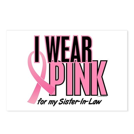 I Wear Pink For My Sister-In-Law 10 Postcards (Pac