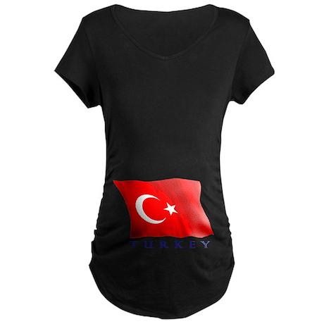 Turkish Flag Maternity Dark T-Shirt