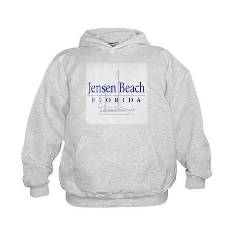 Jensen Beach Sailboat - Kids Hoodie