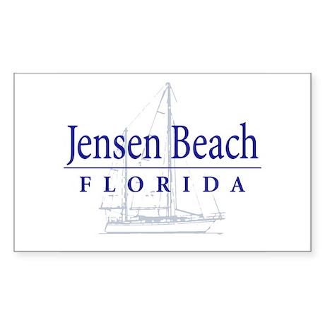Jensen Beach Sailboat - Rectangle Sticker