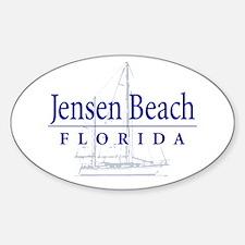 Jensen Beach Sailboat - Oval Decal