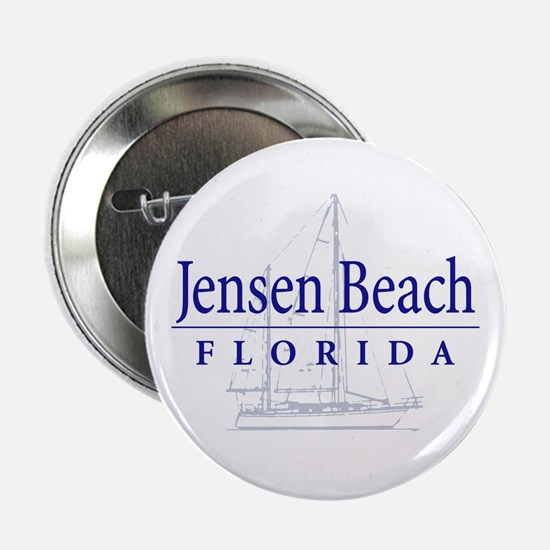"""Jensen Beach Sailboat - 2.25"""" Button"""