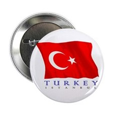 "Turkish Flag (Istanbul) 2.25"" Button (10 pack)"