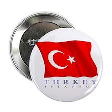 "Turkish Flag (Istanbul) 2.25"" Button"