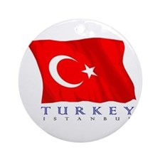 Turkish Flag (Istanbul) Ornament (Round)