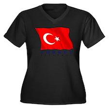 Turkish Flag (Istanbul) Women's Plus Size V-Neck D
