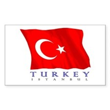 Turkish Flag (Istanbul) Rectangle Decal