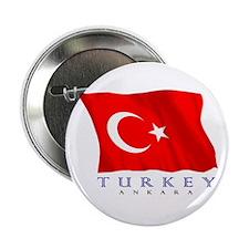 "Turkish Flag (Ankara) 2.25"" Button"