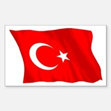 Turkish Flag (No Text) Rectangle Decal
