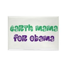 Earth Mama For Obama Rectangle Magnet