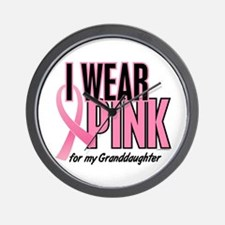 I Wear Pink For My Granddaughter 10 Wall Clock