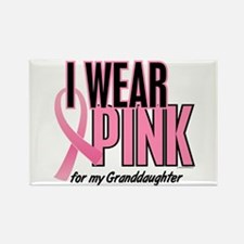 I Wear Pink For My Granddaughter 10 Rectangle Magn