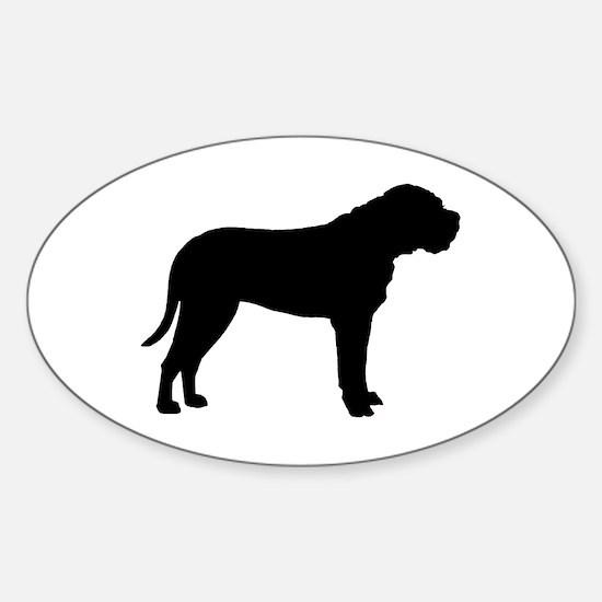Bullmastiff Dog Breed Oval Decal