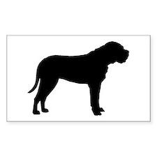 Bullmastiff Dog Breed Rectangle Decal