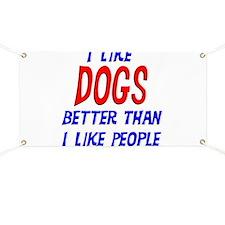 I Like Dogs Banner