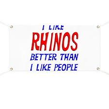 I Like Rhinos Banner