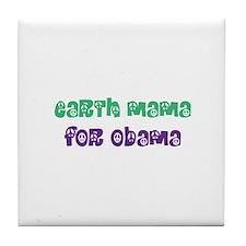 Earth Mama For Obama Tile Coaster