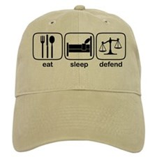 Eat Sleep Defend Baseball Cap