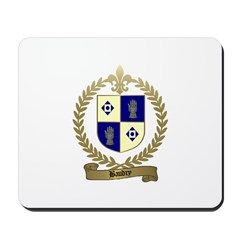 BAUDRY Family Crest Mousepad