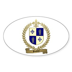 BAUDRY Family Crest Oval Decal