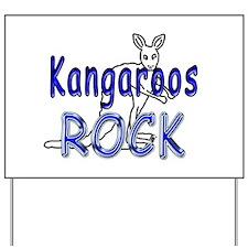 Kangaroos Rock Yard Sign