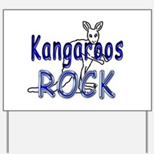 Kangaroos Rock Yard Sign