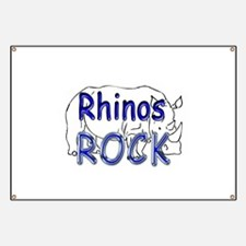 Rhinos Rock Banner