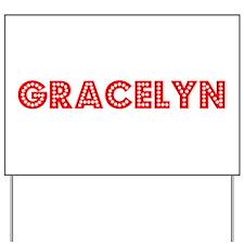 Retro Gracelyn (Red) Yard Sign