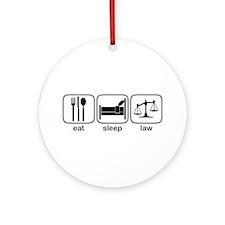 Eat Sleep Law Ornament (Round)
