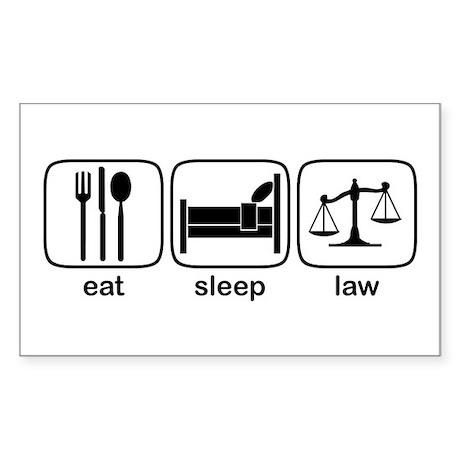 Eat Sleep Law Rectangle Sticker