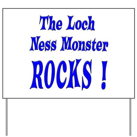 Loch Ness - Blue Yard Sign