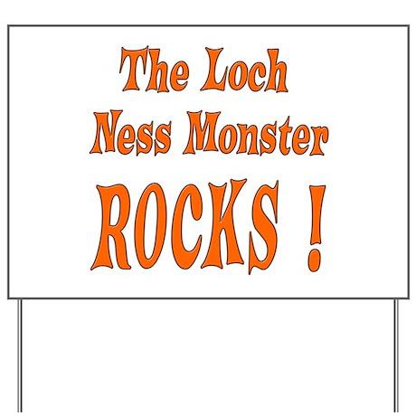 Loch Ness - Orange Yard Sign