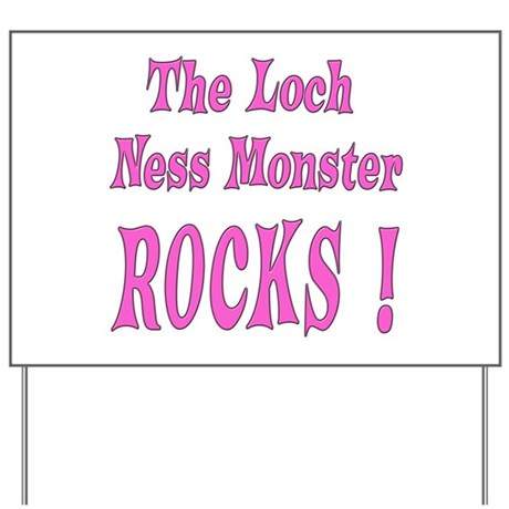 Loch Ness - Pink Yard Sign